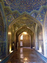 Entry to the royal mosque in Isfahan