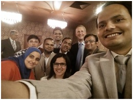 Spice Route members teaching WONCA South Asia Regional President and the WONCA president how to do a group selfie