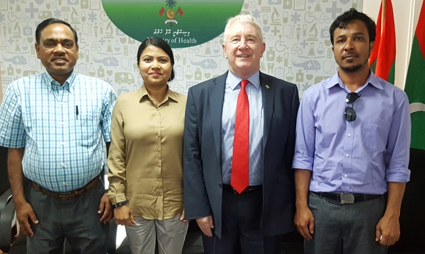 Garth and, then South Asia region president, Pratap Prasad visit the Maldives in October 2016