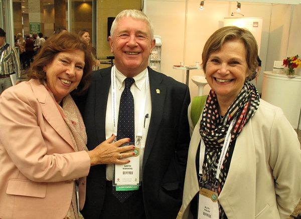 Seen in Istanbul in 2015, with Val Wass (left) and Allyn Walsh (right), current and former chair of WP education respectively