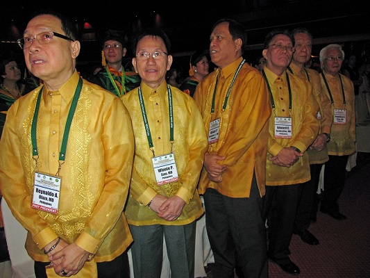 A Golden Anniversary was celebrated in 2012 in Cebu, Philippines - not only women but the men (here their past presidents) wore gold.