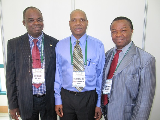 Nigerian doctors are great conference attenders .. I am sure I've met these colleagues at several conferences. This photo taken in Cebu 2011 - Paul Dienye, Momodu Dania Abubakar, and Ita Bassey Okokon