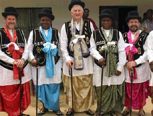 RuralWONCA leaders invested as honorary chiefs in Nigeria 2015: Roger Strasser (Canada), Ndifreke Udonwa (host), Ian Couper (Sth Africa), Victor Inem (Nigeria), Bruce Chater (Aus). This has become an iconic image for the WP