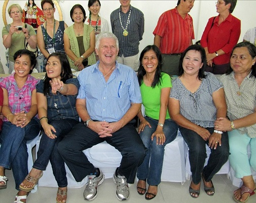 Ian Couper (Sth Africa) was similarly in demand for photos at the Rural conference in Tacloban, Philippines 2011