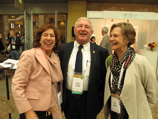 Caught in Istanbul 2015, Val Wass (WP Educatoin chair), Garth Manning and Allyn Walsh (Former WP Education chair)